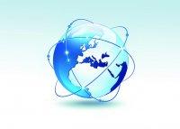 niebieski glob